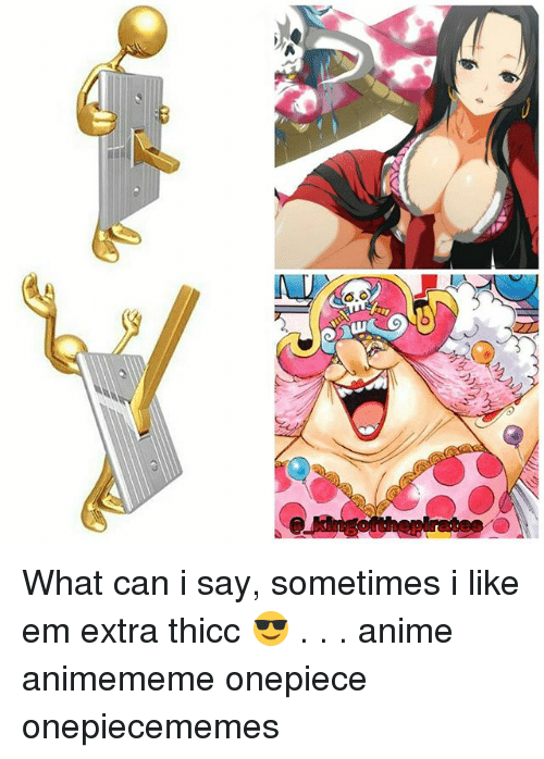 Anime, Memes, and Onepiece: What can i say, sometimes i like em extra thicc 😎 . . . anime animememe onepiece onepiecememes