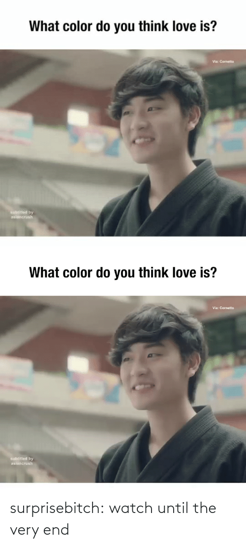 Love Is: What color do you think love is?  Via: Cornetto  subtitled by  asiancrush   What color do you think love is?  Via: Cornetto  subtitled by  asiancrush surprisebitch: watch until the very end