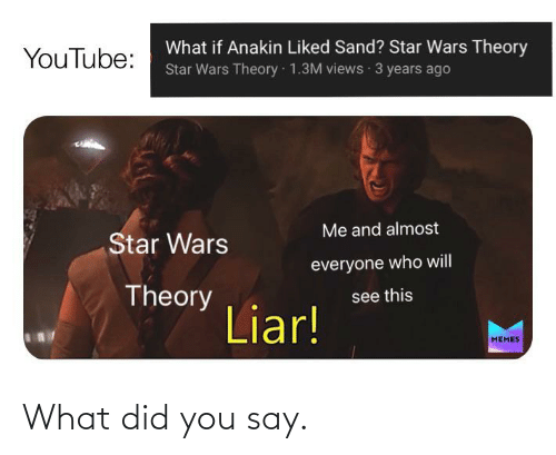 what did you say: What did you say.