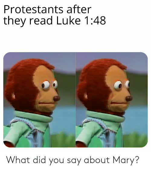 what did you say: What did you say about Mary?