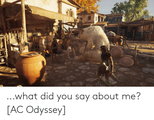 what did you say: ...what did you say about me? [AC Odyssey]
