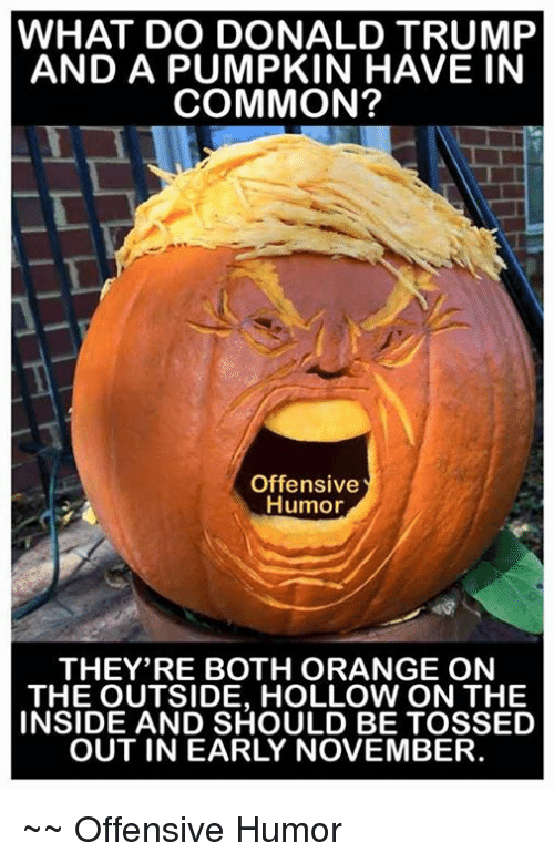 Donald Trump, Memes, and Common: WHAT DO DONALD TRUMP AND A PUMPKIN ...