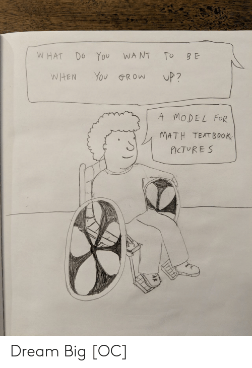dream big: WHAT Do You WANT To B E  WHEN Yov GRow UP?  A MODEL FOR  MATH TEXTBOOK  PICTUR ES Dream Big [OC]