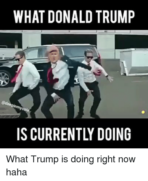 Donald Trump, Trump, and Dank Memes: WHAT DONALD TRUMP  IS CURRENTLY DOING What Trump is doing right now haha