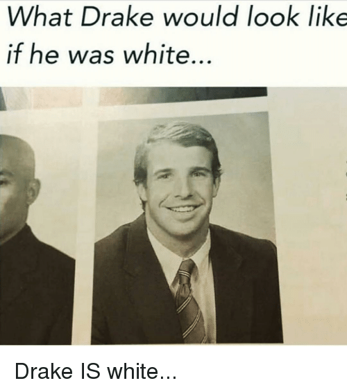 Drake, Memes, and 🤖: What Drake would look like  if he was white Drake IS white...