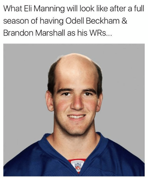 Nfl, Beckham, and Elis: What Eli Manning will look like after a full  season of having Odell Beckham &  Brandon Marshall as his WRs..
