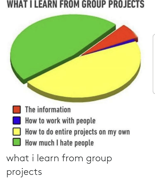 Group Projects: what i learn from group projects