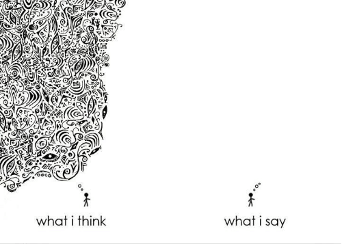 say what: what i say  what i think