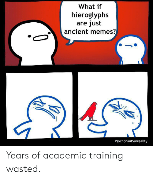 Ancient Memes: What if  hieroglyphs  are just  ancient memes?  PsychonautSurreality Years of academic training wasted.