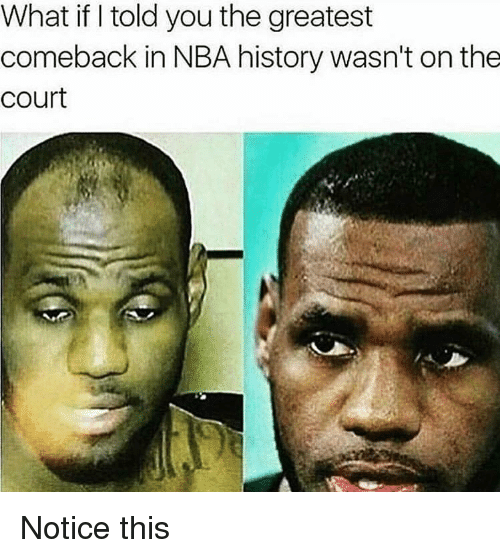 what if i told you: What if I told you the greatest  comeback in NBA history wasn't on the  court Notice this