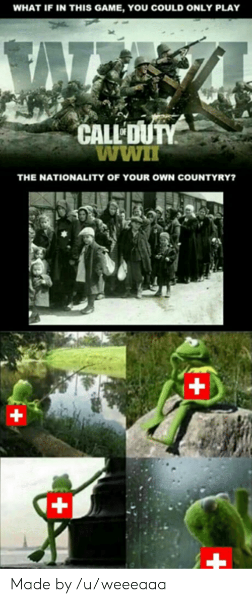 Superior Swiss: WHAT IF IN THIS GAME, YOU COULD ONLY PLAY  CALL  THE NATIONALITY OF YOUR OWN COUNTYRY? Made by /u/weeeaaa
