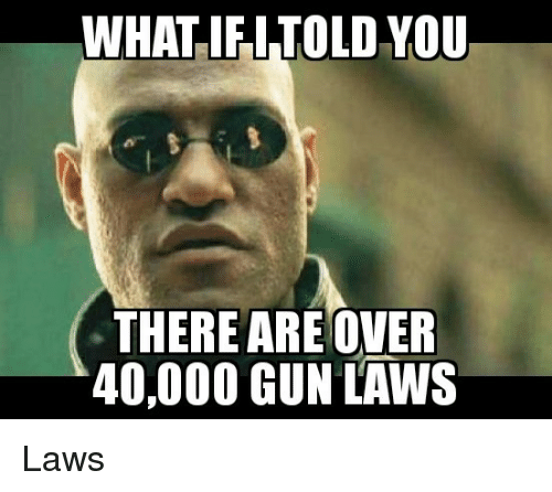 gun laws: WHAT IFI TOLD VOU  THERE ARE OVER  40,000 GUN LAWS Laws