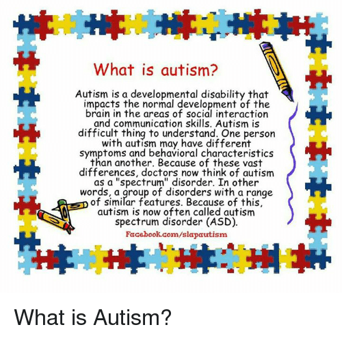 autism developmental disability of the brain The center for autism & developmental disabilities is dedicated to developing new knowledge about cognitive and behavioral problems associated with autism and related neurodevelopmental.