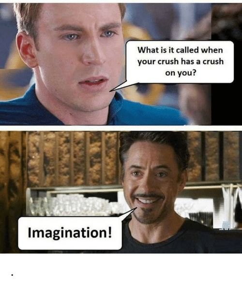 What Is It: What is it called when  your crush has a crush  on you?  Imagination! .