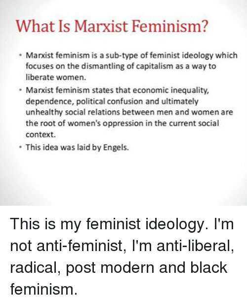 feminism vs marxism political theory