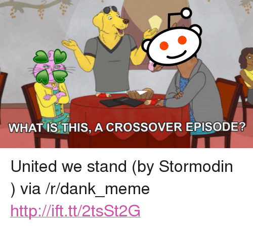 "United We Stand: WHAT IS THIS, A CROSSOVER EPISODE? <p>United we stand (by Stormodin ) via /r/dank_meme <a href=""http://ift.tt/2tsSt2G"">http://ift.tt/2tsSt2G</a></p>"