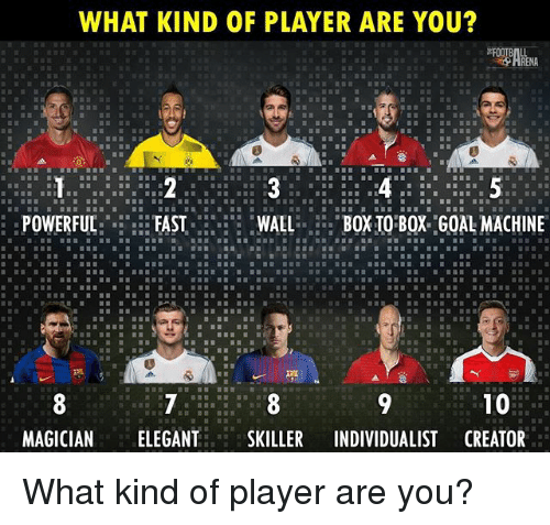 Memes, Powerful, and 🤖: WHAT KIND OF PLAYER ARE YOU  :POWERFUL:FASTLXIO'BQX G0A MACHINE  MAGICIANELEGANTSKILLER INDIVIDUALIST CREATOR What kind of player are you?