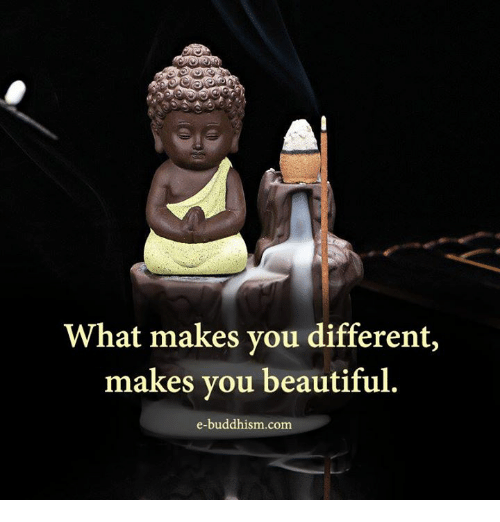 Buddhism: What makes you different,  makes you beautiful  e-buddhism com