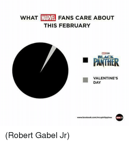 Facebook, Memes, and Valentine's Day: WHAT MARVEL FANS CARE ABOUT  THIS FEBRUARY  BLACK  VALENTINE'S  DAY  www.facebook.com/mcuphilippines (Robert Gabel Jr)