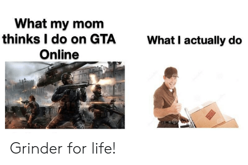 What My Mom Thinks I Do: What my mom  thinks I do on GTA  Online  What I actually do  T Grinder for life!