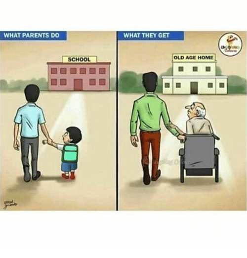WHAT PARENTS DO SCHOOL WHAT THEY GET OLD AGE HOME
