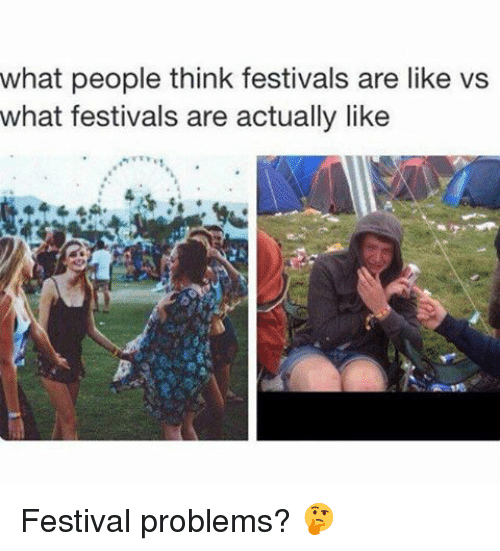 what people think festivals are like vs what festivals are 19093549 what people think festivals are like vs what festivals are