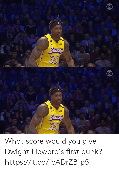 Howard: What score would you give Dwight Howard's first dunk?  https://t.co/jbADrZB1p5