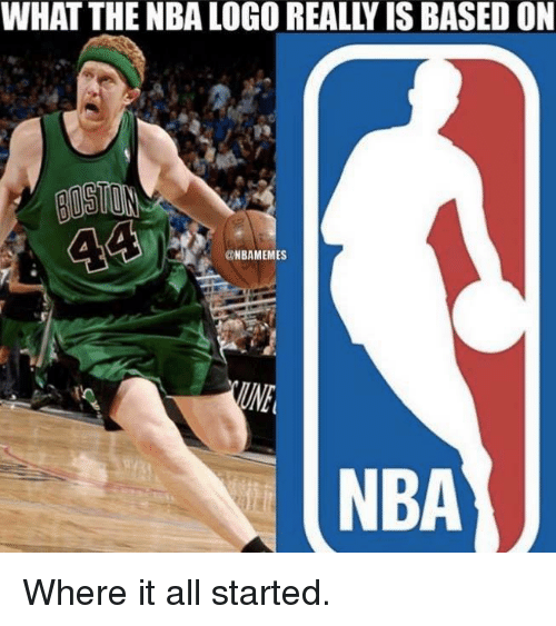 nba logo: WHAT THE NBA LOGO REALLY IS BASED ON  44  aNBAMEMES  NBA Where it all started.