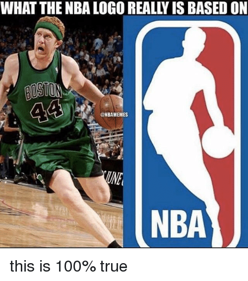 nba logo: WHAT THE NBA LOGO REALLY IS BASED ON  BOSTON  44i  aNBAMEMES  NBA this is 100% true