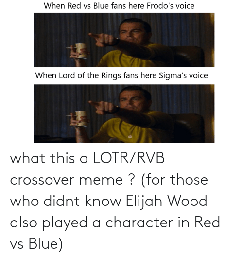 Red vs. Blue: what this a LOTR/RVB crossover meme ? (for those who didnt know Elijah Wood also played a character in Red vs Blue)