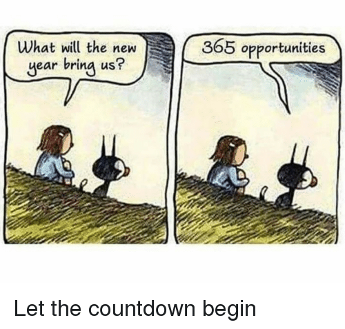 Countdown: What will the new  year bring us?  365 opportunities Let the countdown begin