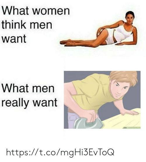 What Men Really Want: What women  think men  want  What men  really want https://t.co/mgHi3EvToQ