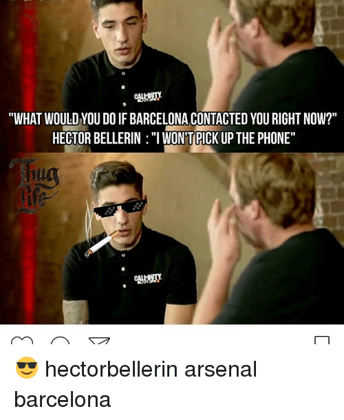 """Hector Bellerin: """"WHAT WOULD YOU DO IF BARCELONA CONTACTEDYOU RIGHT NOW?""""  HECTOR BELLERIN :""""I WONTPICK UP THE PHONE"""" 😎 hectorbellerin arsenal barcelona"""