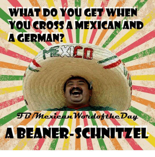 whatdo you get when you cross amexicanand a german abeaner 251075 whatdo you get when you cross amexicanand a german? abeaner,German Word Meme