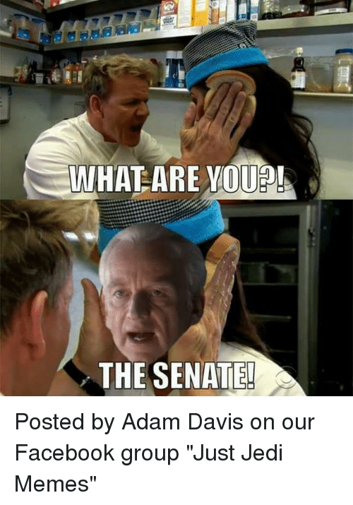 "youp: WHATEARE YOUP!  THE SENATE! Posted by Adam Davis on our Facebook group ""Just Jedi Memes"""
