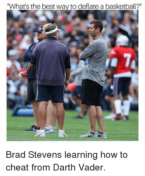 "Basketball, Darth Vader, and Memes: ""What's the best way to deflate a basketball?"" Brad Stevens learning how to cheat from Darth Vader."