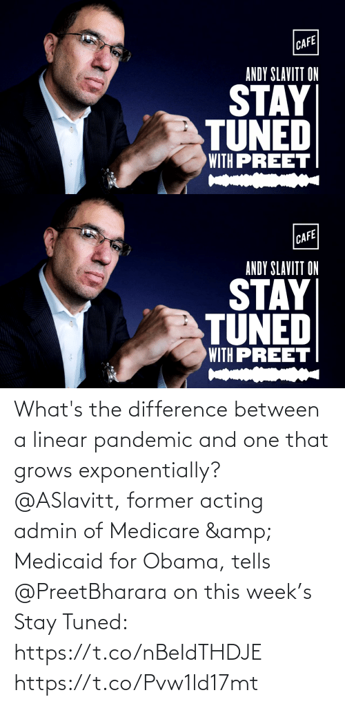 Medicare: What's the difference between a linear pandemic and one that grows exponentially? @ASlavitt, former acting admin of Medicare & Medicaid for Obama, tells @PreetBharara on this week's Stay Tuned: https://t.co/nBeIdTHDJE https://t.co/Pvw1ld17mt