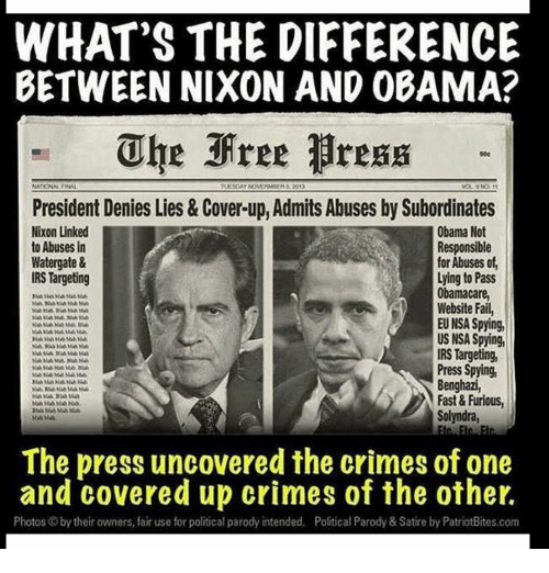 Fast And Furious News And Political Cartoons: WHAT'S THE DIFFERENCE BETWEEN NIXON AND OBAMA? Uhe Free