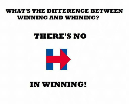 Image result for the difference between winning and whining
