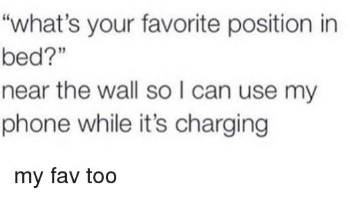 What S Your Favorite Position In Bed Near The Wall So L