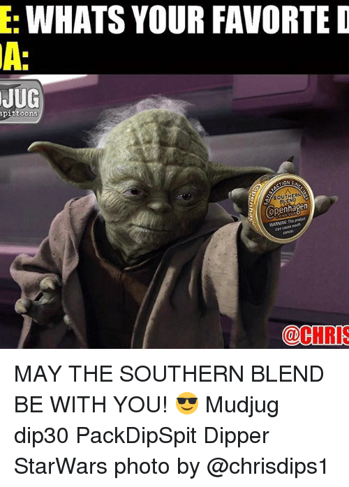 dipper: WHATS YOUR FAVORTE D  JUG  toons  (Copenhagen  @CHRIS MAY THE SOUTHERN BLEND BE WITH YOU! 😎 Mudjug dip30 PackDipSpit Dipper StarWars photo by @chrisdips1