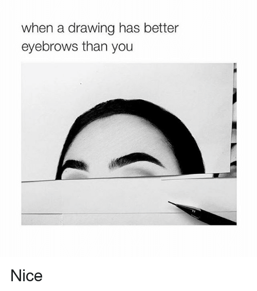 Girl Memes: when a drawing has better  eyebrows than you Nice