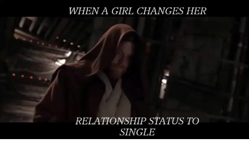 When She Changes Her Status To Single