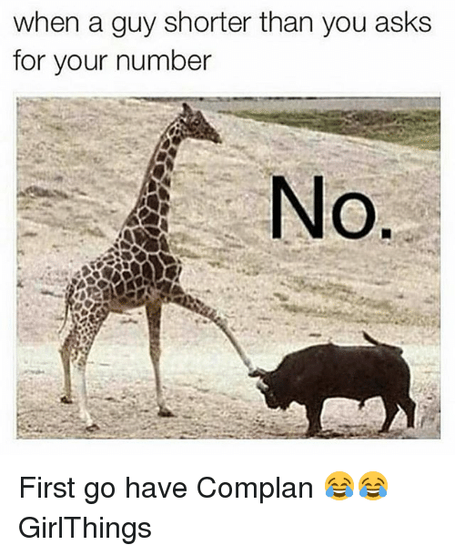 Dekh Bhai, International, and Guy: when a guy shorter than you asks  for your number First go have Complan 😂😂 GirlThings