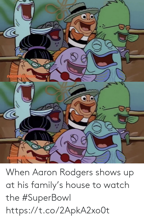 Aaron Rodgers: When Aaron Rodgers shows up at his family's house to watch the #SuperBowl https://t.co/2ApkA2xo0t