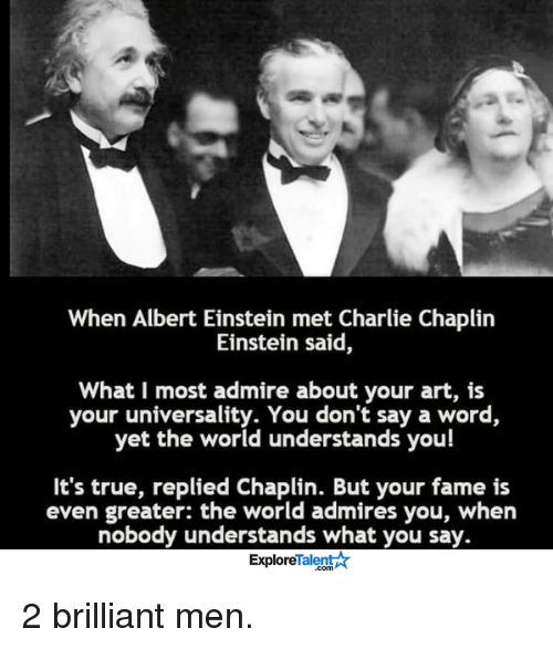 the person i admire albert einstein Brain pickings remains free where she had met albert einstein i am impelled to tell you how much i have come to admire your intellect.