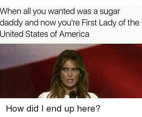 Funny First Lady Meme : When all you wanted was a sugar daddy and now re first