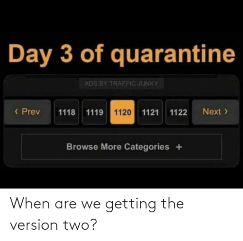 Version: When are we getting the version two?