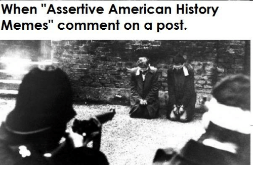 """Meme, Memes, and American: When """"Assertive American History  Memes"""" comment on a post"""