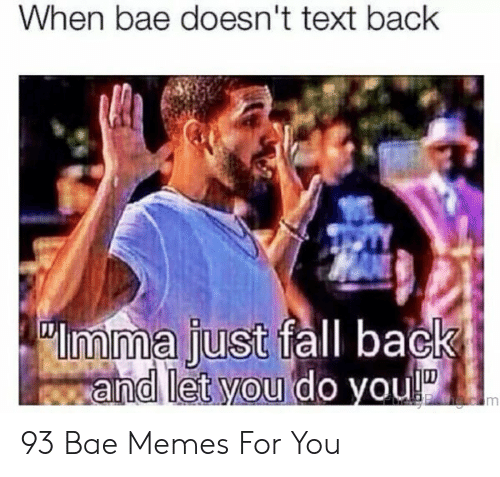 When Bae Doesnt Text Back: When bae doesn't text back  imma just fall back  and let you do you!  OPhac m 93 Bae Memes For You